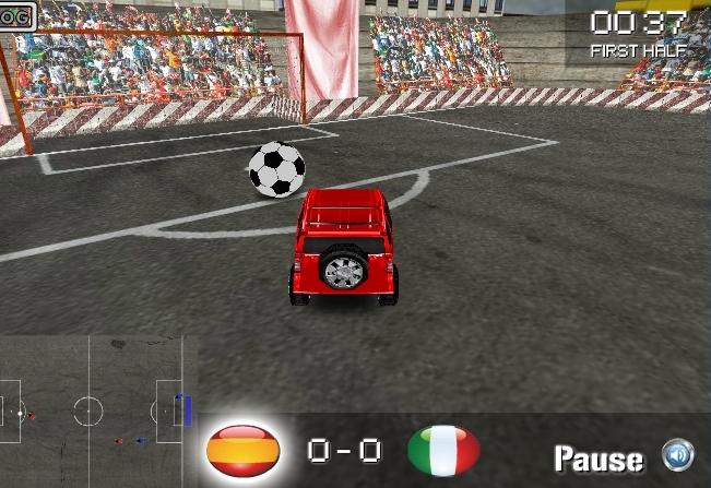 Играть машинами футбол