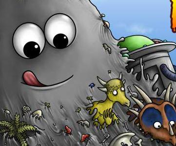Флеш игра Съедобная планета 2. Игры для мальчиков:Съедобная планета 2.