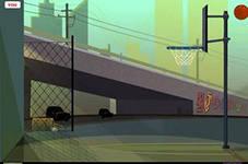 Баскетбольные трюки, скриншот игры, игра, онлайн, games, бесплатно, спортивные, баскетбол