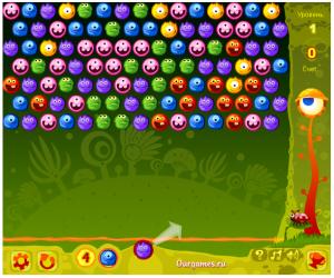 Чудики, шарики, пузырьки, играть, стрельба шариками, онлайн, бесплатно, без регистрации, бесплатные, флеш, флэш, flash, игры, игра, games