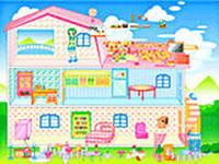 Домик Барби, скриншот игры, игра, онлайн, games, бесплатно, для девочек, барби