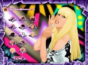 Гримерная Леди Гаги, знаменитости, одевалки, макияж, с знаменитостями, звёзды, со звёздами, для девочек, играть, онлайн, бесплатно, без регистрации, бесплатные, флеш, флэш, flash, игры, игра, games