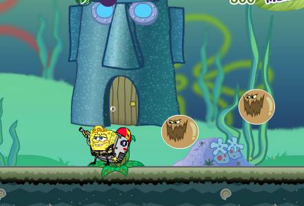 Губка боб вышел на сражение в игре