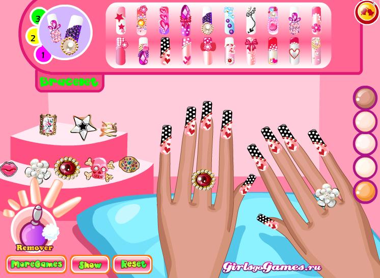 Игры для девочек макияж за ногтями