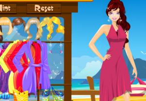 Одевалка. Барби на пляже
