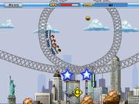 Роллеркостер Раш, скриншот игры, игра, онлайн, games, бесплатно, гонки, вид с боку, трамплин, грузоперевозки, хиты