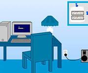 Синяя Комната Поллека, скриншот игры, выход из комнаты, найти выход, квест, головоломка, бродилки, играть, онлайн, бесплатно, без регистрации, бесплатные, флеш, флэш, flash, игры, игра, games