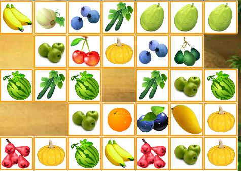 соедини фрукты 3