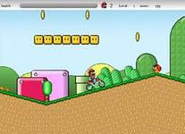 Super Mario Cross Game, скриншот игры, игра, онлайн, games, бесплатно, классика, классические, марио, спорт, спортивные, гонки, вид с боку, трамплин